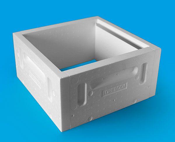 Töreboda-kupa EPS, låda LS, yttermått 462x462 mm 1-25 st