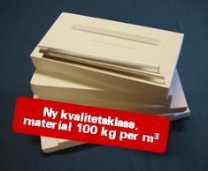 Extra låda i EPS, Halv Norsk, yttermått 492x492 mm
