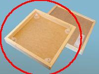 Bitömmarbotten med fyra utgångar, 10 ramars Dadant
