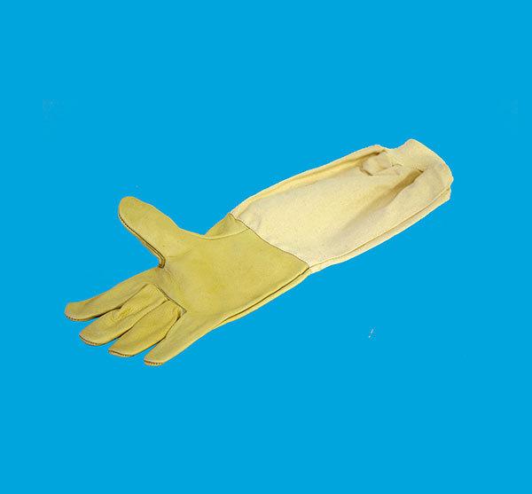 Gloves, beige calf skin
