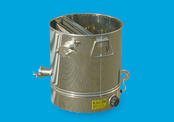 Stainless pre-strainer, 30 kg with bottom heating