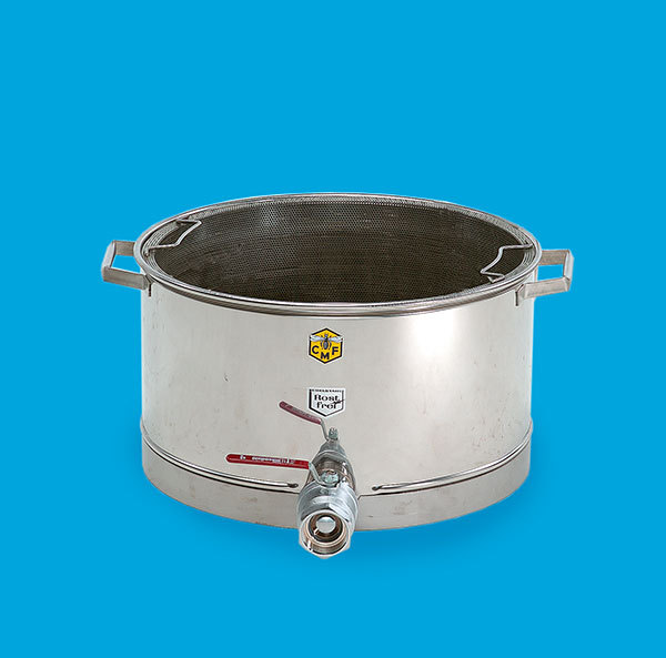 Stainless pre-strainer, with bottom heating