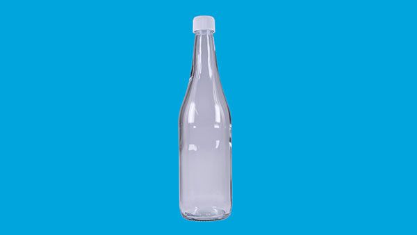 Ciderflaska 630 ml med kapsyl 15 st på plastad bricka