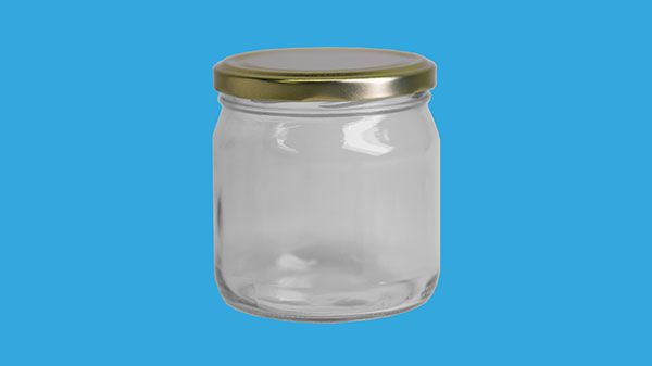Glasburk 500 g (420 ml) med 82 mm lock