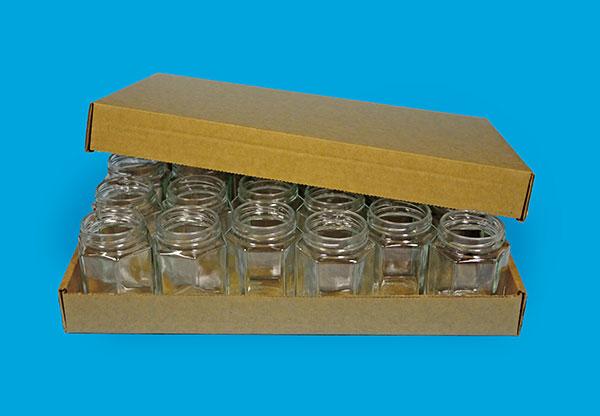 Carton plate for glassjars and bottles