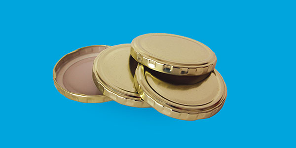 Gold lid with Ø 43 mm