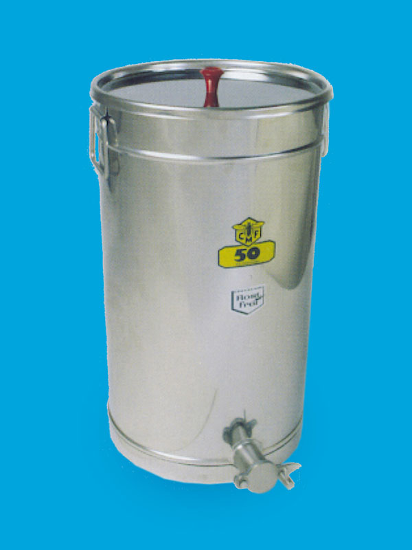 Stainless honeytank, volume 25 kilos honey