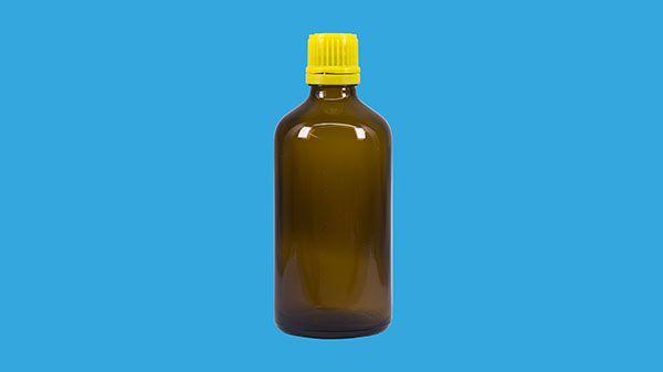 Glasflaska brun, 100 ml