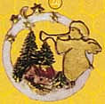 Oval, angel motif