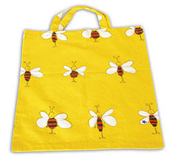 Cloth bag with bees