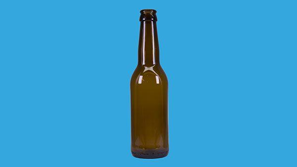 Ölflaska 330 ml med kapsyl 24 st på plastad bricka