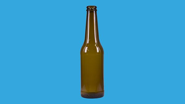 Beer bottle 500 ml with cap