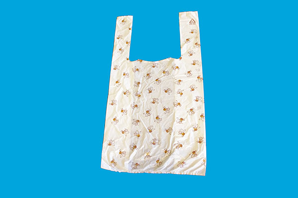 Plastic bag with bees