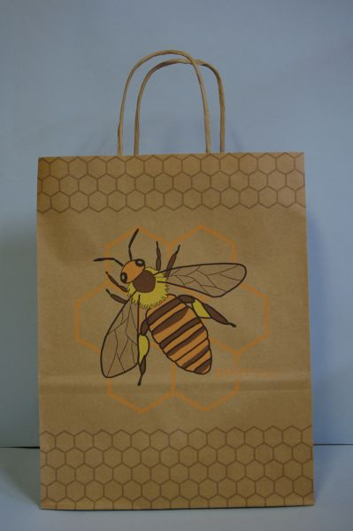 Paper bag nature with bee