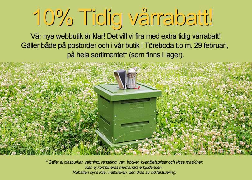 10% Vårrabatt