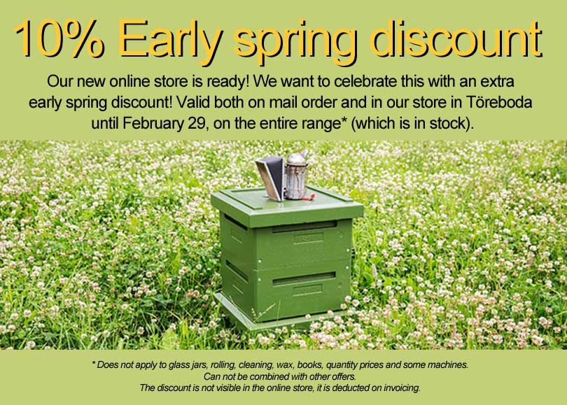 10% Early spring discount
