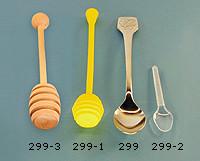 Honungssked, spillfri, av plast